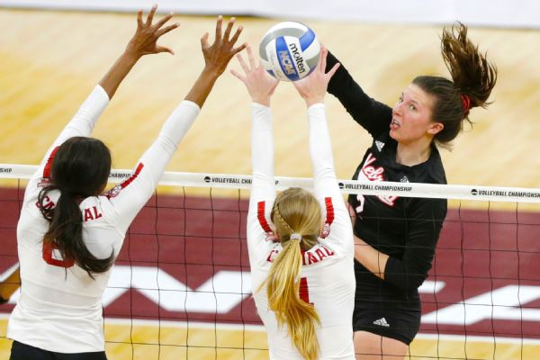 In her final game for Nebraska, Mikaela Foecke had a game-high 27 kills.