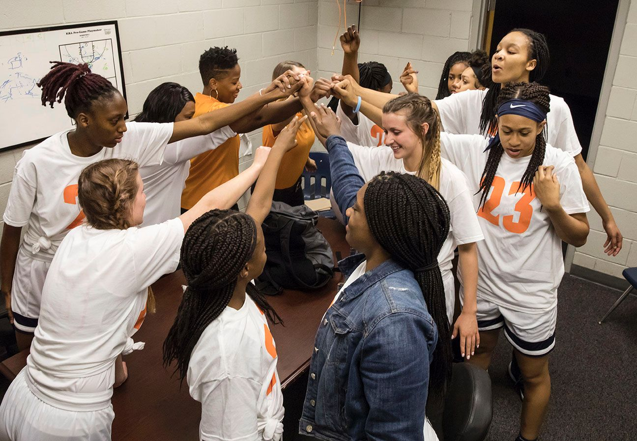 Maori Davenport's Charles Henderson teammates wore No. 23 warm-up jerseys to show their support.