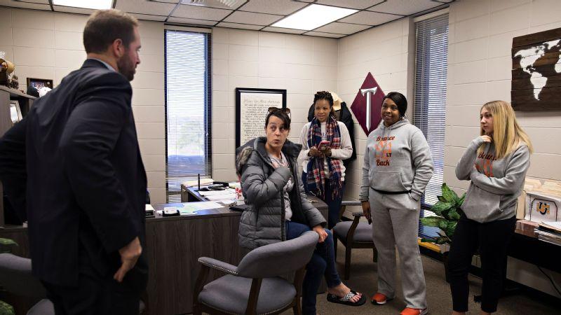Principal Brock Kelley and Tara Davenport