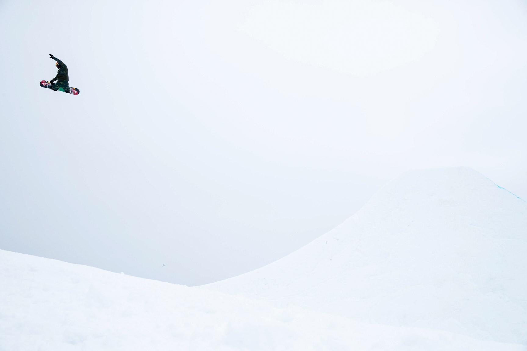 Sebastien Toutant, Snowboard Slopestyle Practice