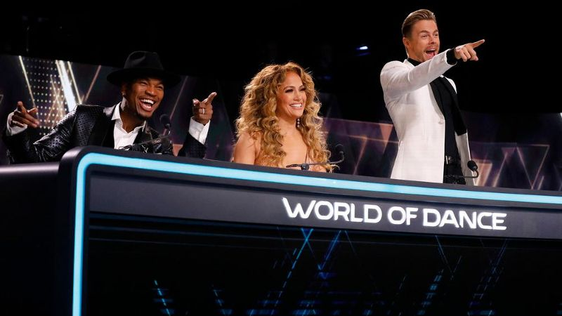Ne-Yo, Jennifer Lopez and Derek Hough (from left) are reuniting at the World of Dance judge's table on Feb. 26.
