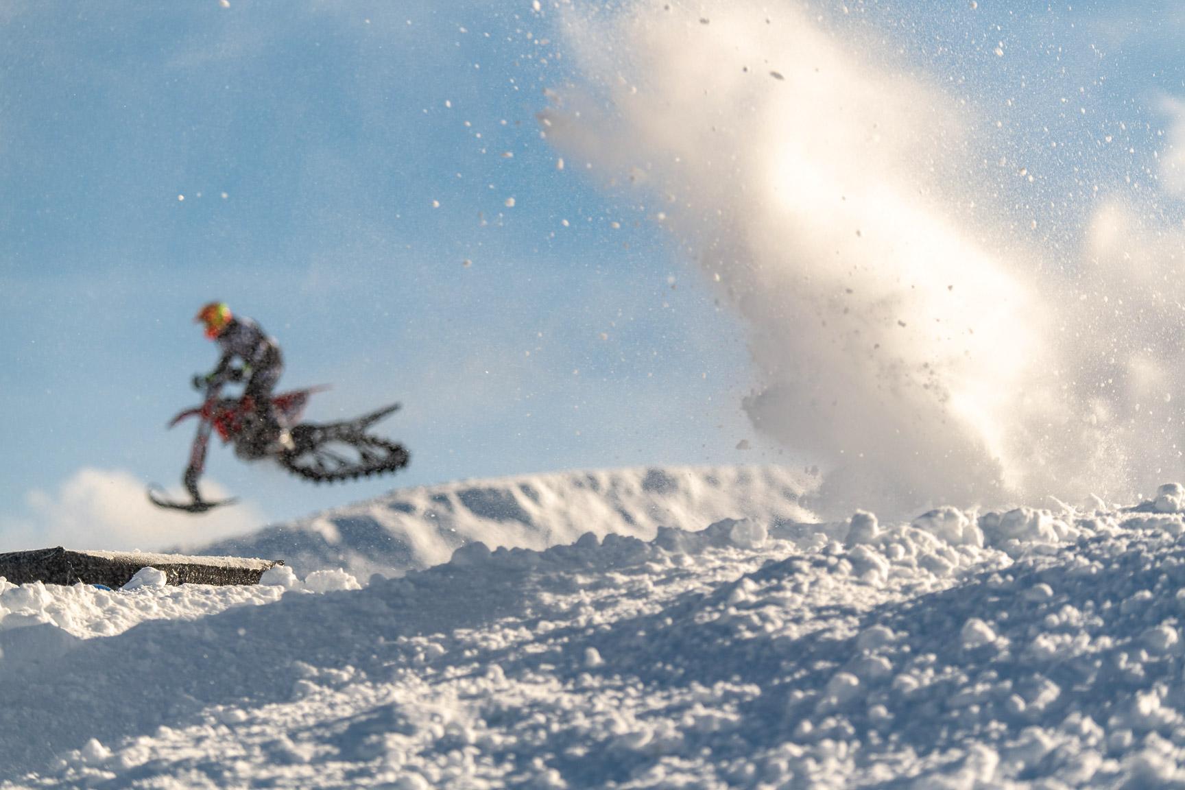 Snow BikeCross Practice