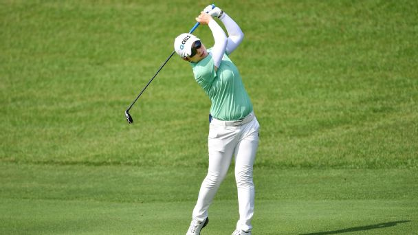 Eun-Hee Ji of Republic of Korea plays the shot during the first round of the Honda LPGA Thailand