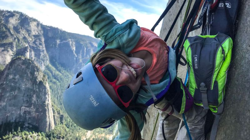 Selah Schneiter grew up driving across the country with her family -- climbing, hiking and hanging off of ledges and ropes since she was a toddler.