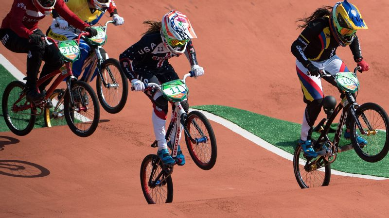 Alise Willoughby won the Olympic silver medal in BMX cycling in 2016 and is a favorite to win next year at the Tokyo Olympics.