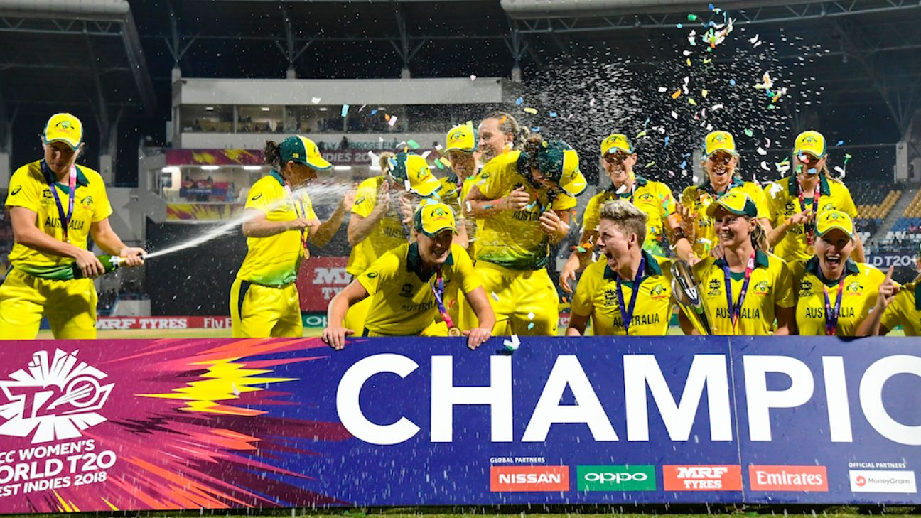 Australia women's team prize money to equal men's at T20 World Cup