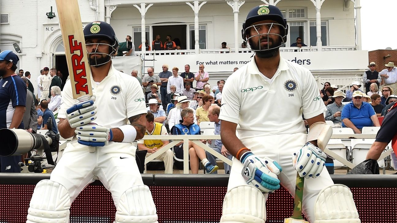 How good are Kohli, Smith, Williamson and Root at occupying the crease?