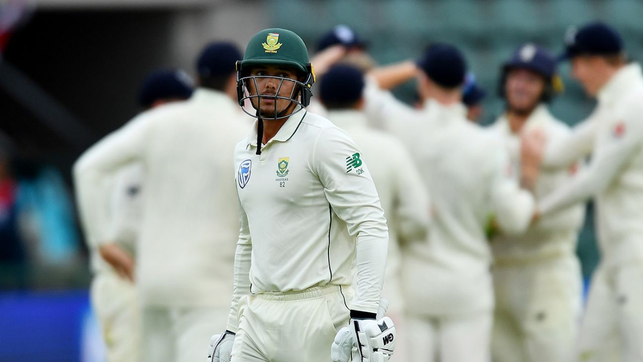 South Africa need Quinton de Kock to step up, especially if Faf du Plessis steps down