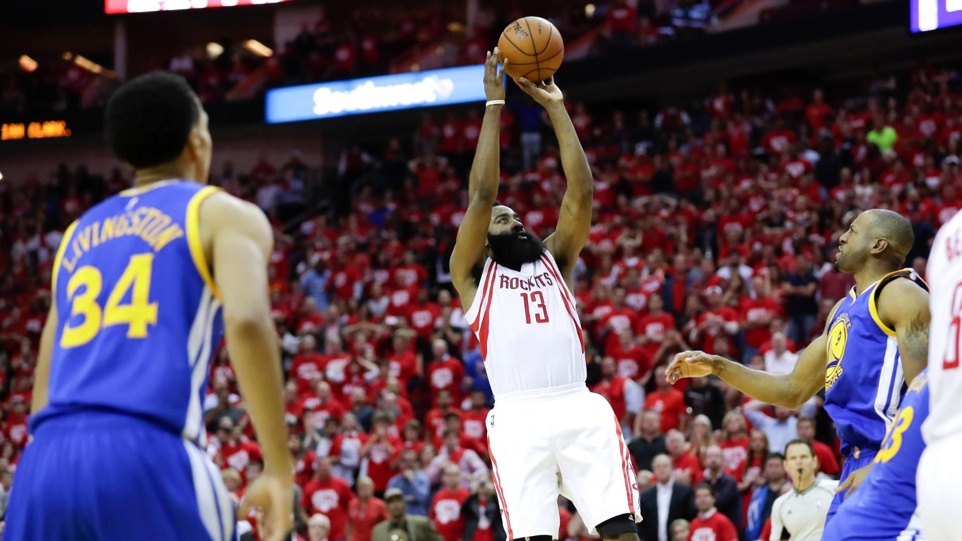 3e8475ff1c0f 2016 NBA playoffs -- League says James Harden s game winner for Houston  Rockets should not have counted