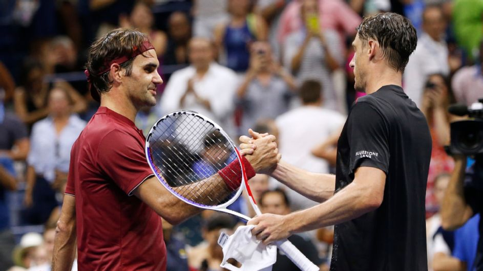 Roger Federer hopes for better weather in rematch with John Millman