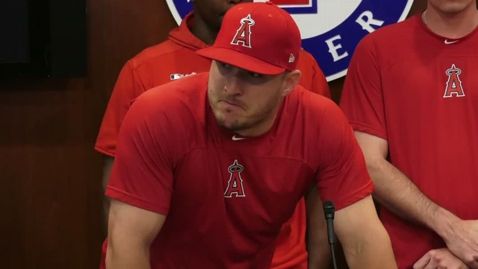 Emotional Angels win a day after Skaggs' death
