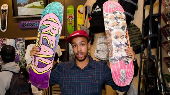 98ab31997 Chima Ferguson and Odd Future collaborate to make a Real Skateboards deck