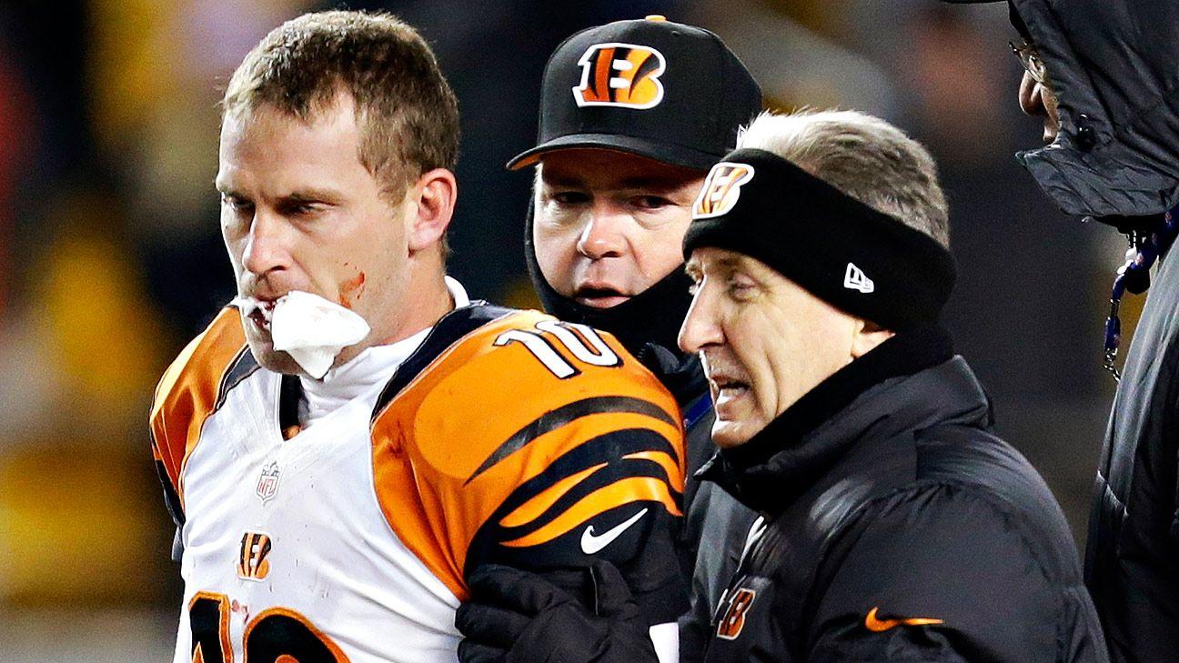 Bengals punter Kevin Huber recalls Steelers hit that broke his jaw -  Cincinnati Bengals Blog- ESPN 770fa20d5ef5