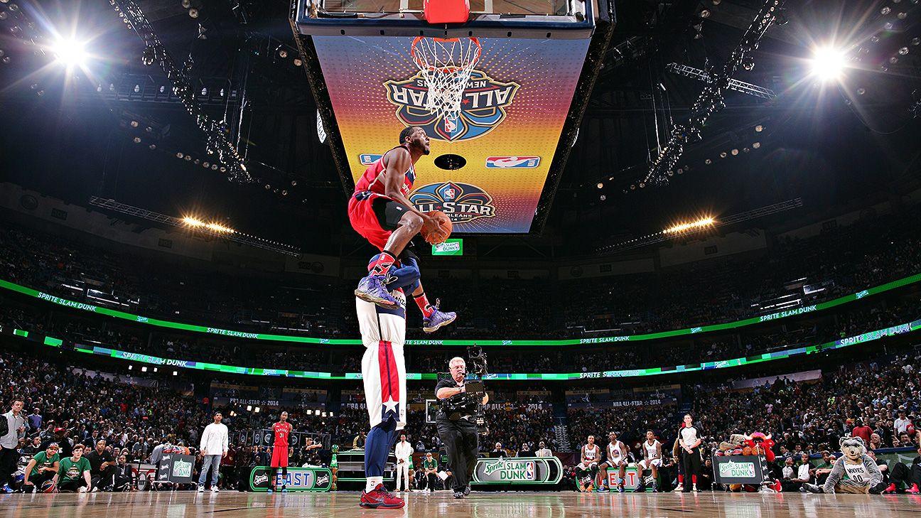 John Wall, East win dunk contest