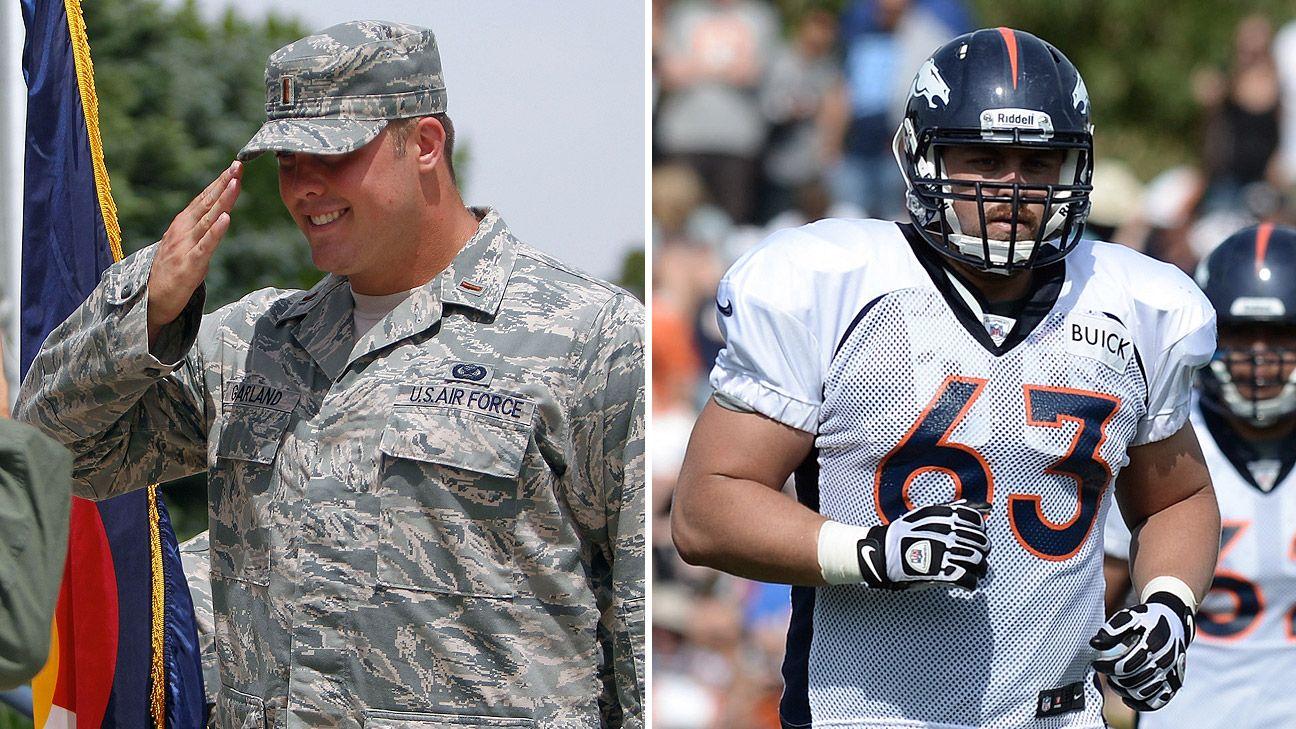 7beacffc4cc Denver Broncos  Ben Garland blazes military-NFL trail Philadelphia Eagles  Alejandro  Villanueva can follow