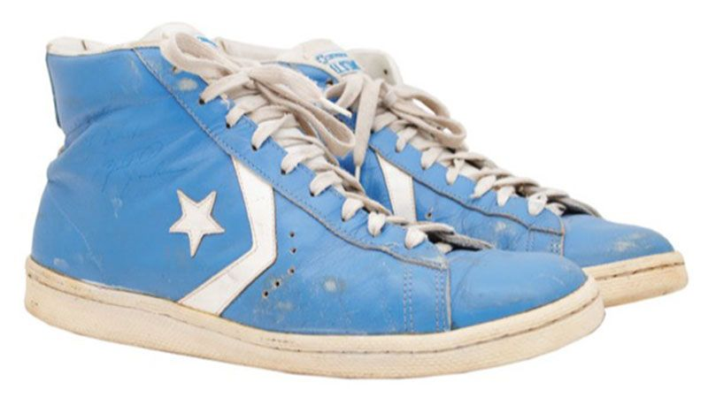 4887b5ece02 Game-worn Michael Jordan shoes from UNC sell for  33K