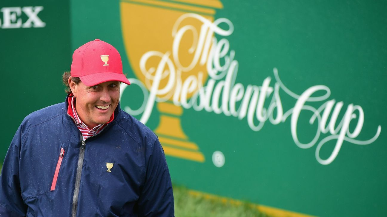Phil Mickelson: 'Lot of better options' for U.S. Presidents Cup team