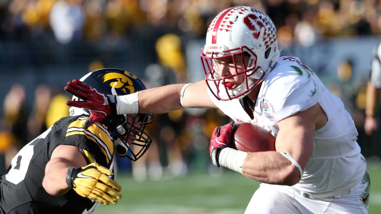 Christian Mccaffrey Of Stanford Cardinal Breaks Rose Bowl