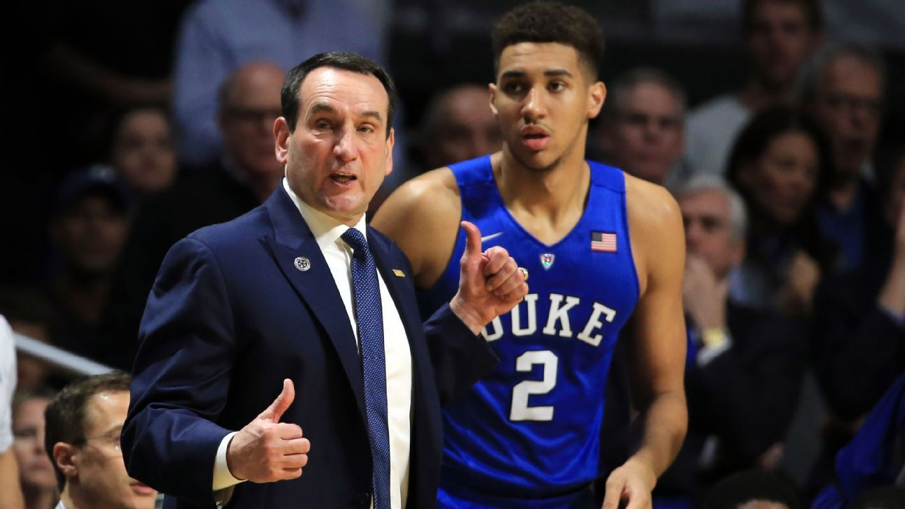 Coach K back with Duke, plans to coach Saturday