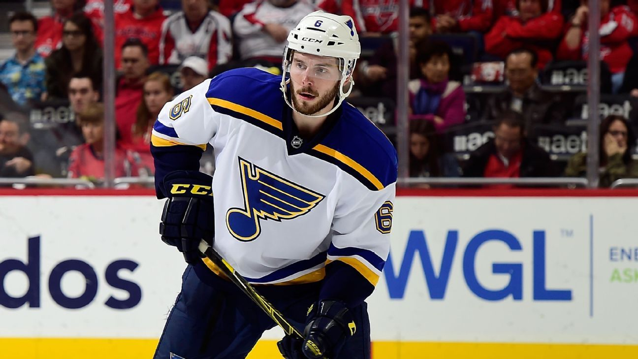 Blues D Edmundson awarded $3.1M in arbitration