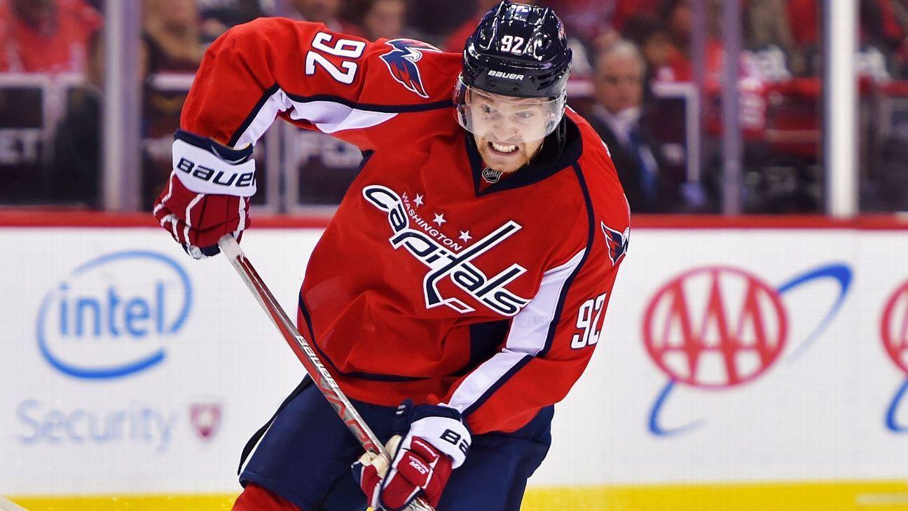 Caps' Kuznetsov out Thursday, will travel on trip