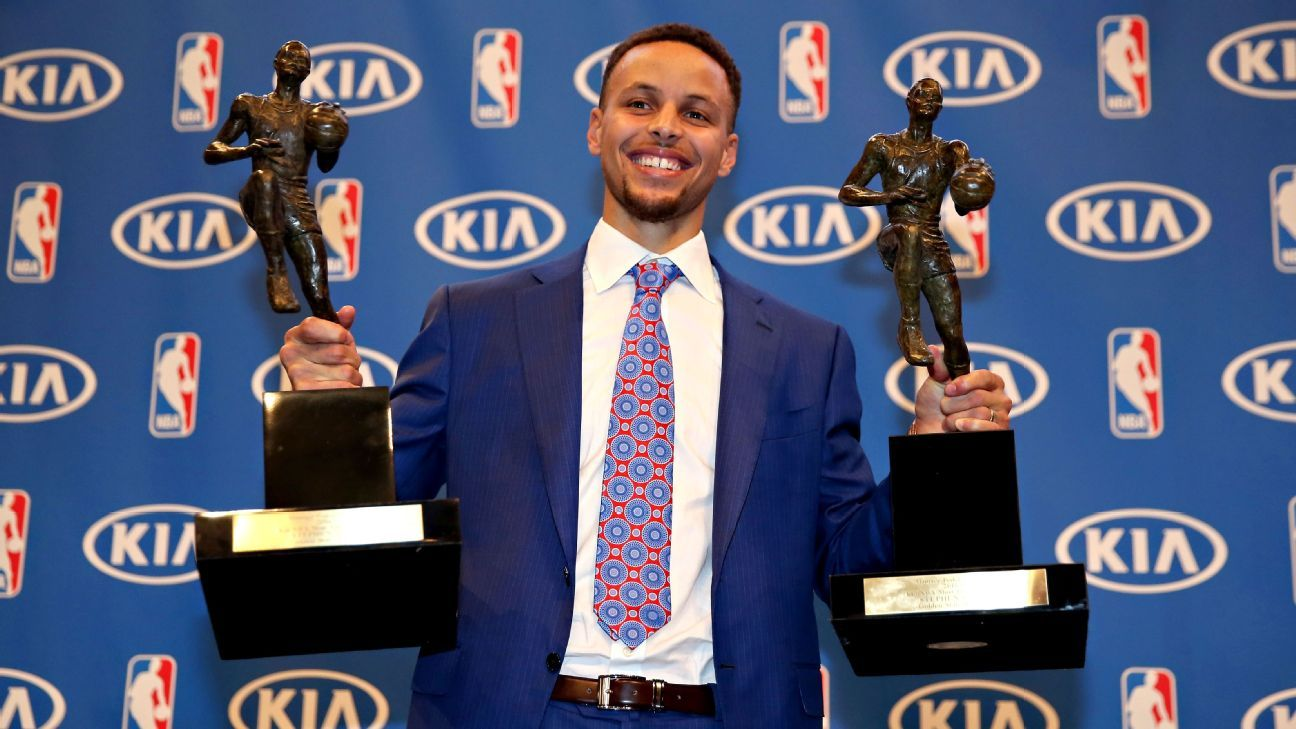 stephen curry of the golden state warriors first unanimous most