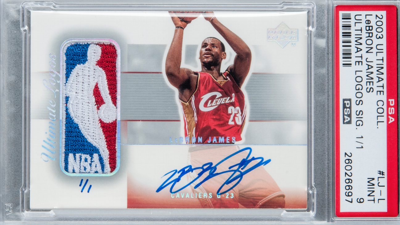 Lebron James Signed Rookie Card Sells For 312000