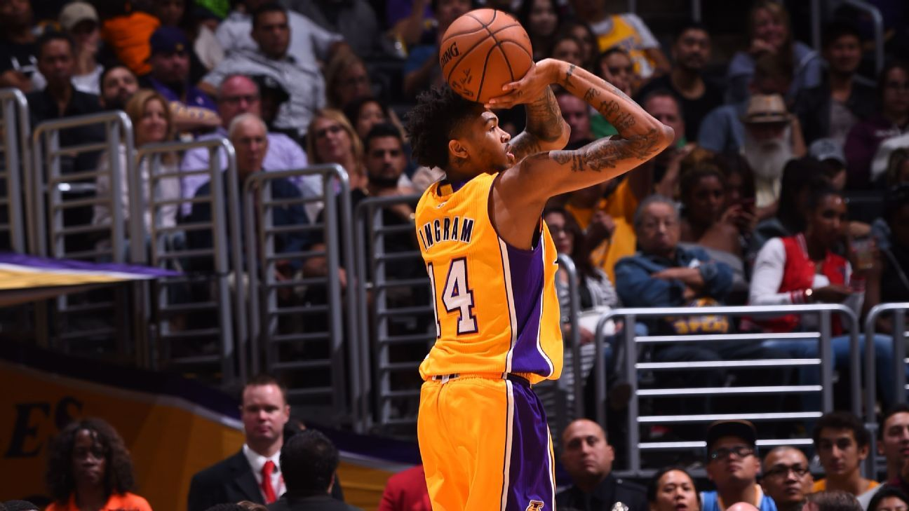 b6a79bd0d6b9 Brandon Ingram taking Kobe s place in Los Angeles Lakers  locker room - Los  Angeles Lakers Blog- ESPN