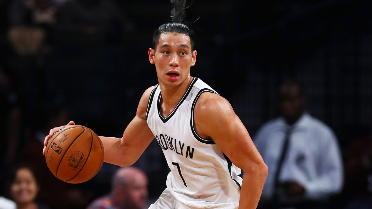 on sale 7b39c 79e82 Brooklyn Nets point guard Jeremy Lin speaks to media for ...