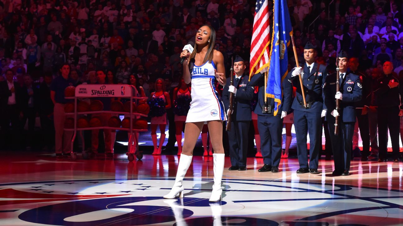 Singer Sevyn Streeter says Philadelphia 76ers pulled her national anthem  performance due to  We Matter  jersey e1a39ca1aaf1