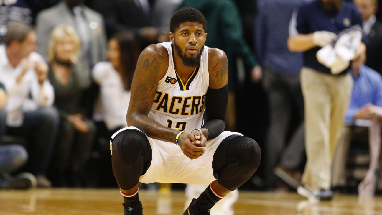 f8b02b39bbe Indiana Pacers  Paul George sends flowers to woman he hit with kicked  basketball