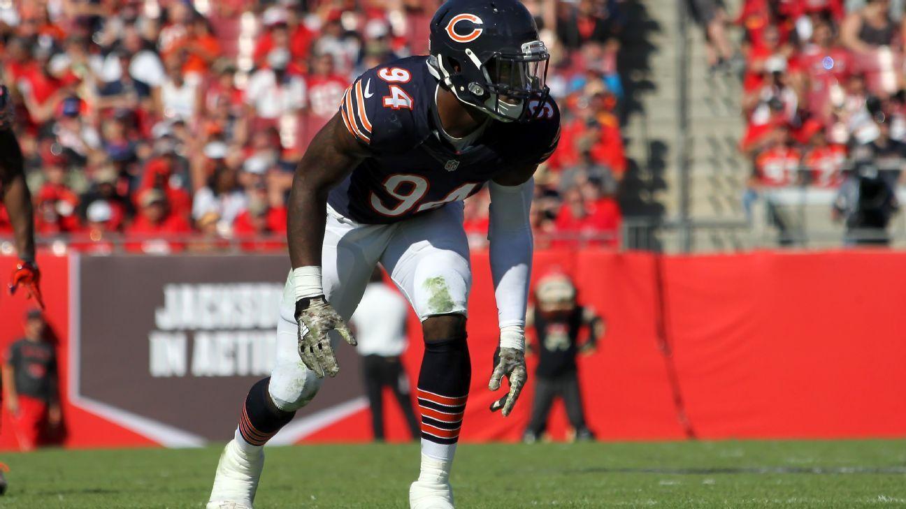 e76b9397851 Leonard Floyd has hand surgery; Chicago Bears hope LB returns for Week 1