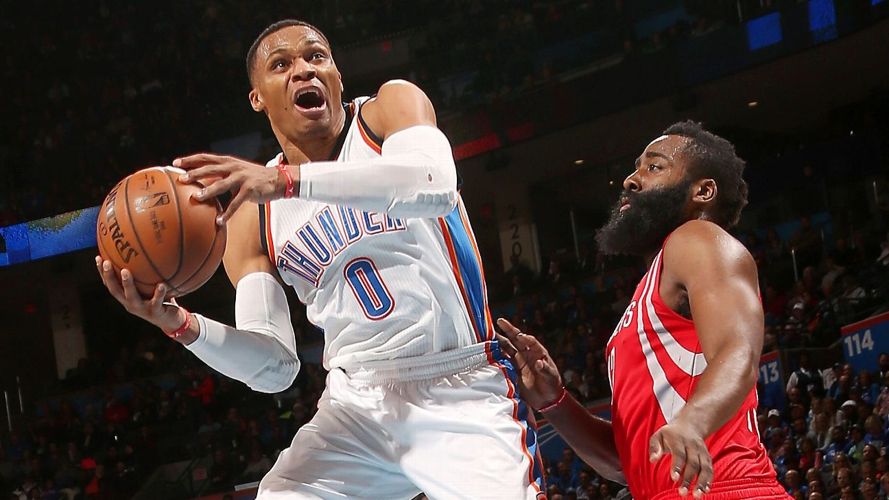 Thunder's Russell Westbrook has seventh straight triple-double