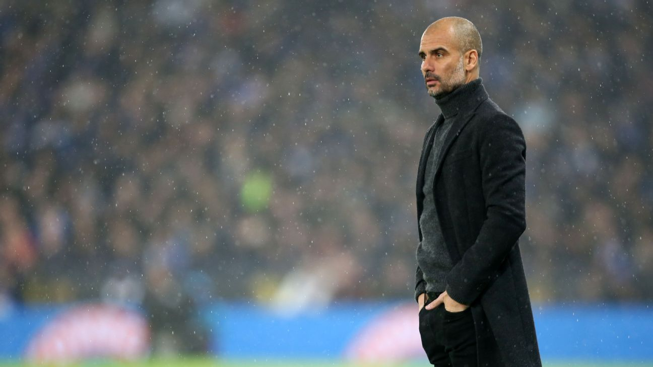Pep ranks City as 2nd-tier team - co-author