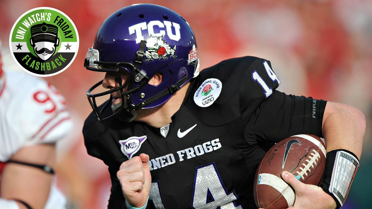 Uni Watch s Friday Flashback -- Rose Bowl is granddaddy of uniform  adornments 9faaa5ce4
