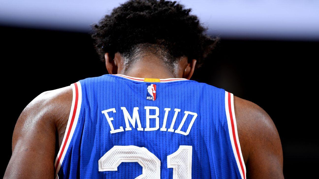 Joel Embiid of Philadelphia 76ers to undergo MRI on injured knee 26695f866