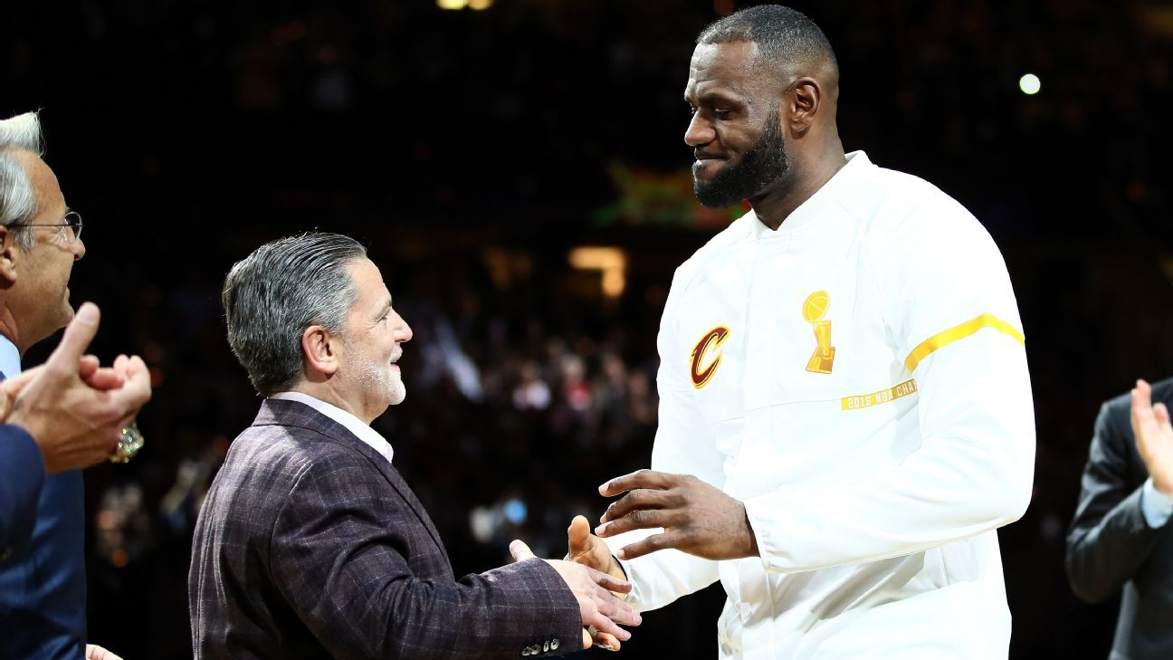 5f65501b1a6c Cleveland Cavaliers owner Dan Gilbert says he got racist voicemails after  LeBron s Trump tweet