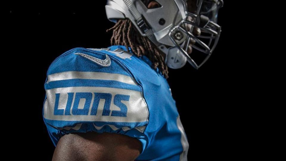 new styles 63a56 adfd5 Detroit Lions' new jerseys offer traditional look - Detroit ...