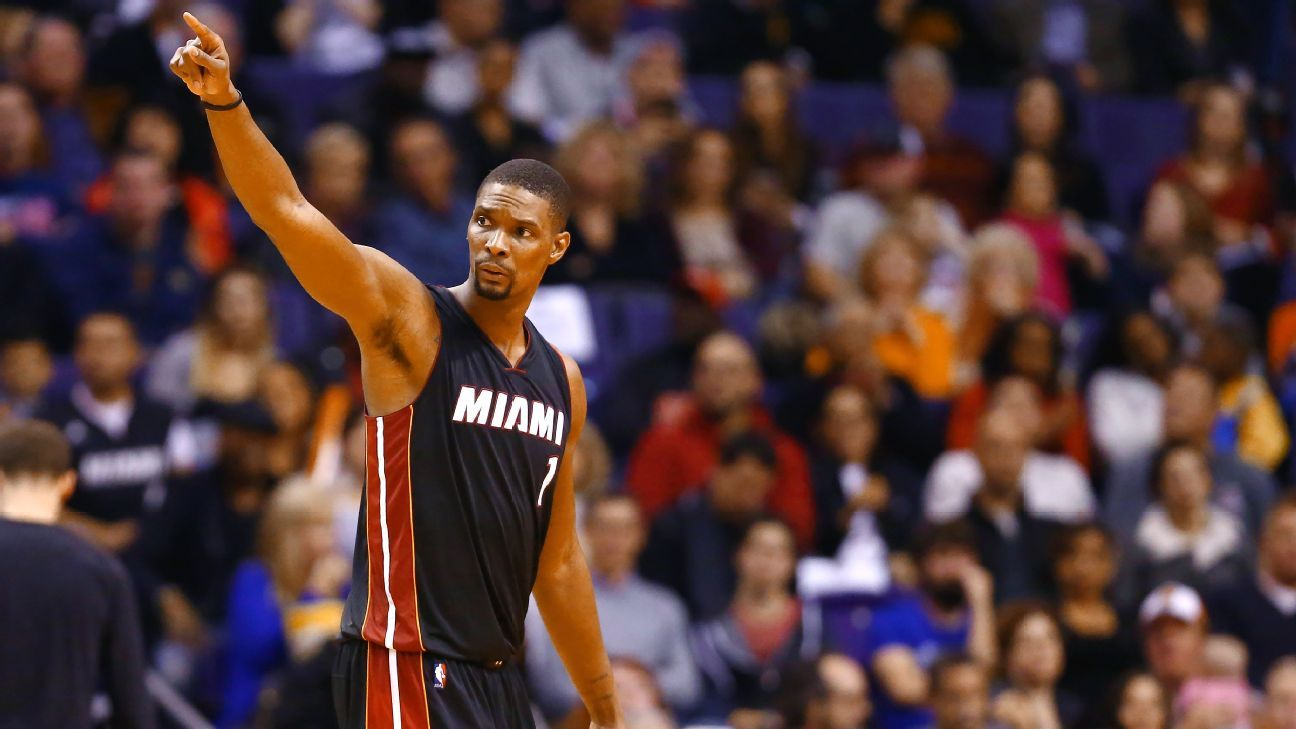 272c8c8a6f2 Miami Heat to retire Chris Bosh s jersey on March 26