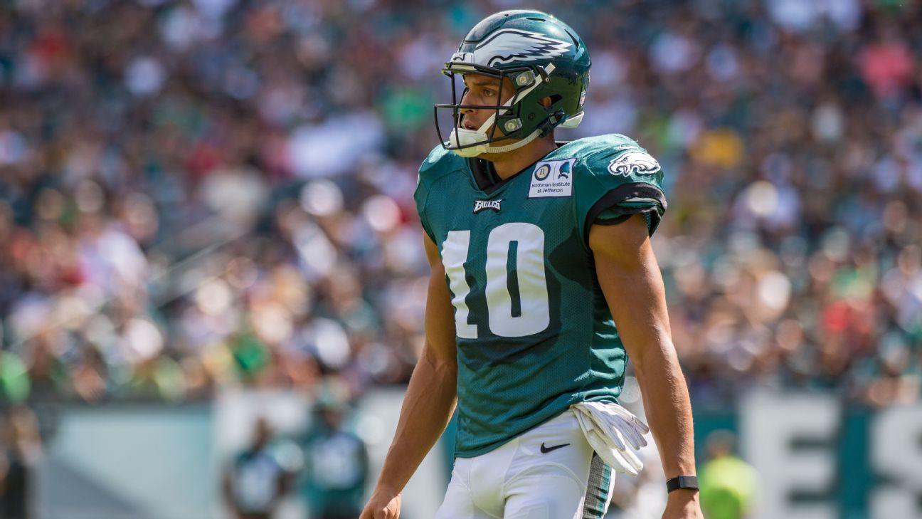 size 40 94ec1 b6ac9 Mack Hollins of Philadelphia Eagles placed on injured reserve ...