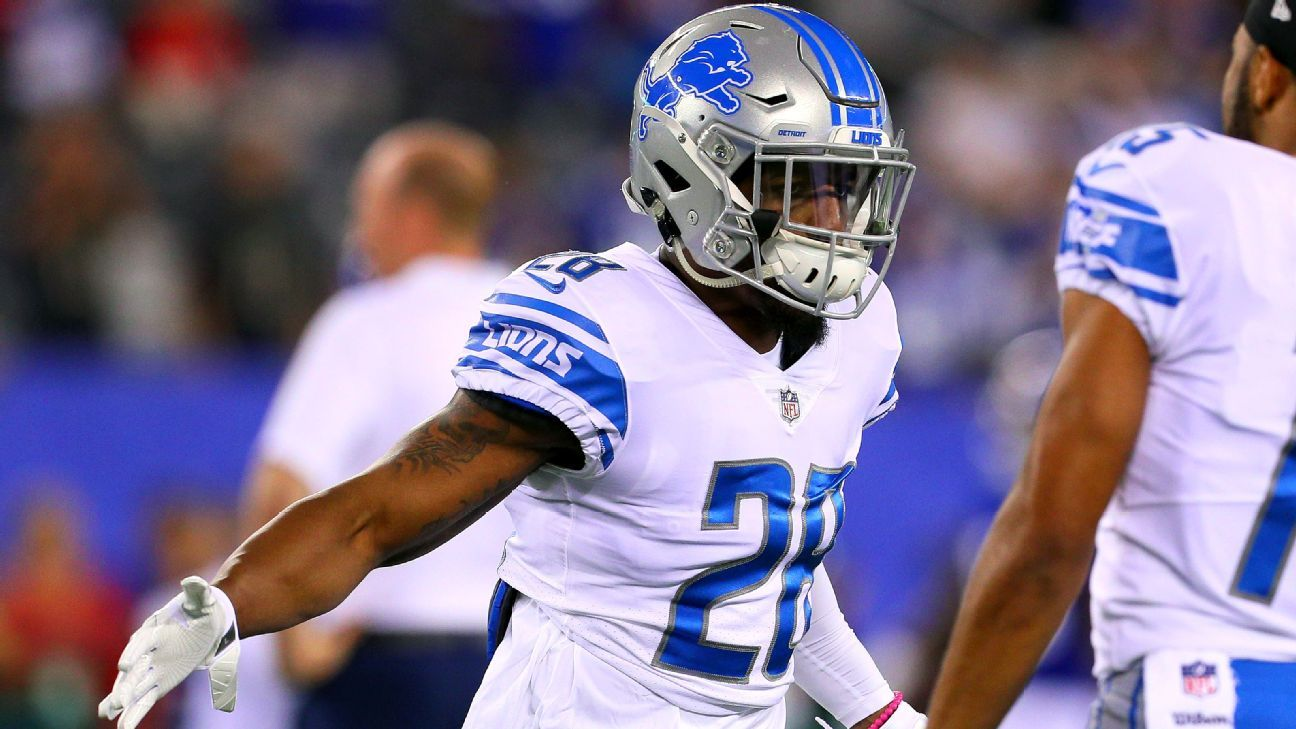 Detroit Lions Depth Chart Compeion Abounds At Rb Dl And Db Blog Espn