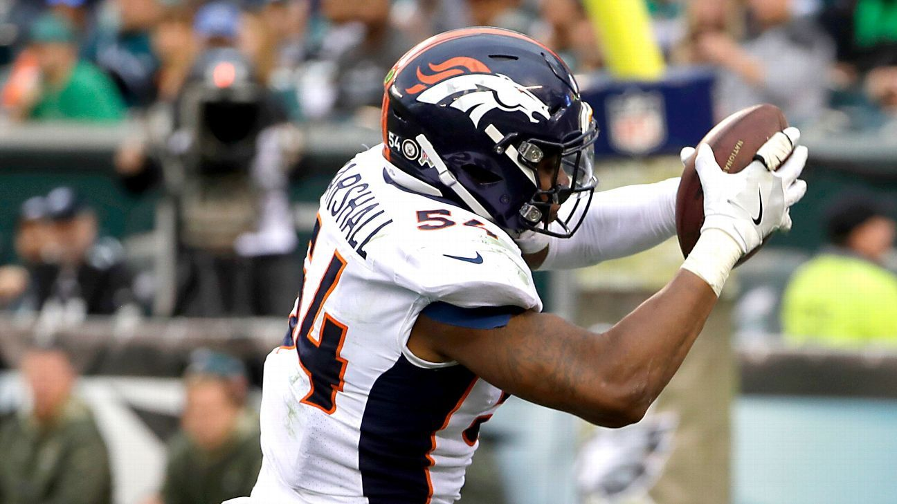LB Brandon Marshall, who has two years remaining on his contract, will likely become a free agent after the Broncos decided that they'll likely not pick up his option, a source told ESPN.