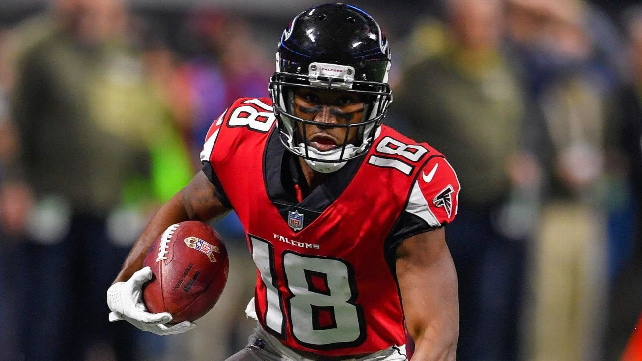 b7d79c58498 Former Atlanta Falcons wide receiver Taylor Gabriel expects to sign four-year  deal with Chicago Bears