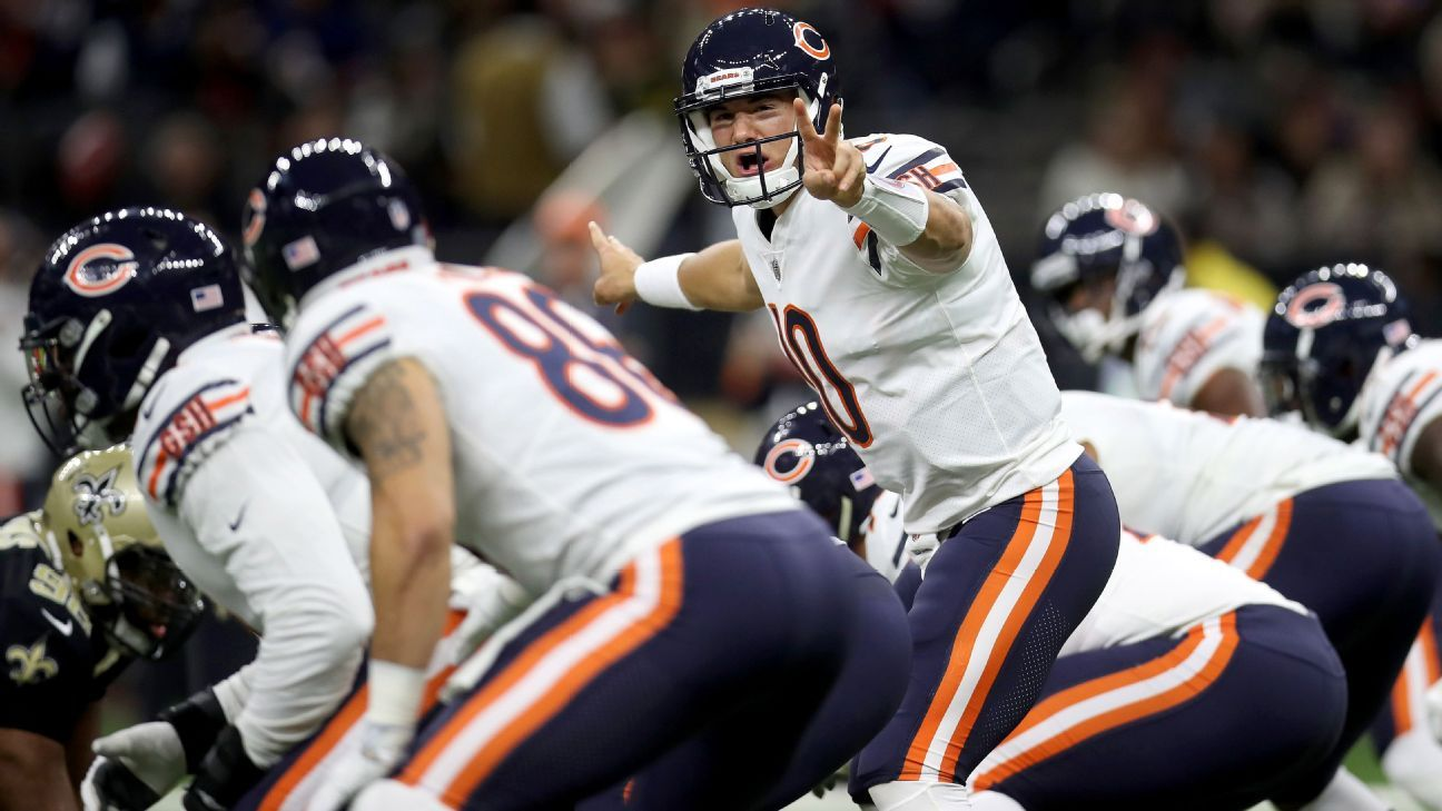 28fb83781 Chicago Bears quarterback Mitchell Trubisky isn t shy in huddle - Chicago  Bears Blog- ESPN