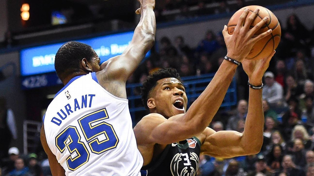 Nba Standings 2018 >> Giannis Antetokounmpo gets hard lessons from Kevin Durant - NBA- ESPN