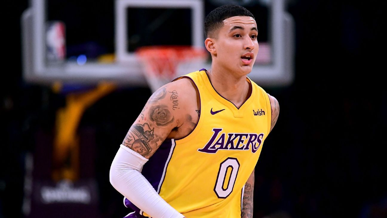 d84b831d410 Los Angeles Lakers trying 6-foot-9 Kyle Kuzma at center for first time