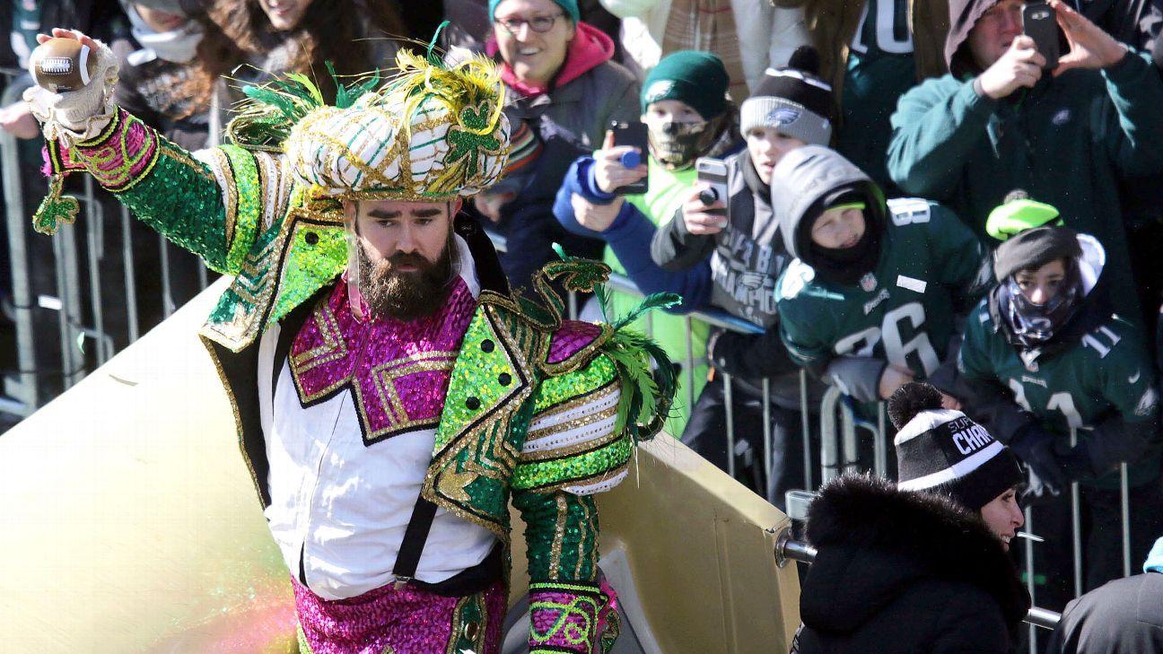 f42476cbaa71bd Philadelphia Eagles C Jason Kelce highlights parade with epic rant