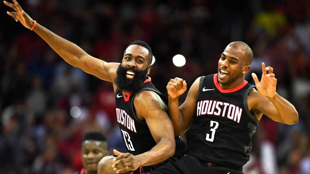 8c4dbf23bd1b Clutch City is living up to its name thanks to James Harden and Chris Paul  - NBA
