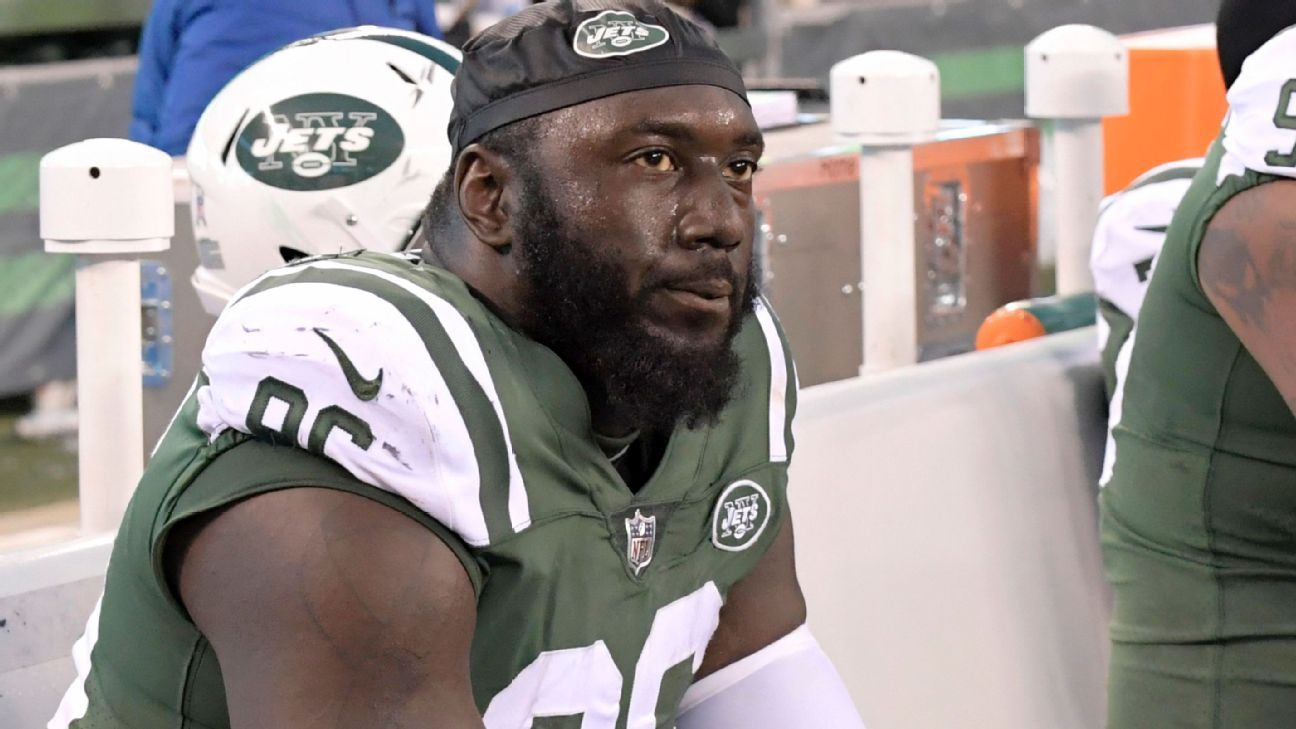 Free-agent defensive tackle Muhammad Wilkerson was arrested Saturday in Manhattan on a DWI charge, police said.