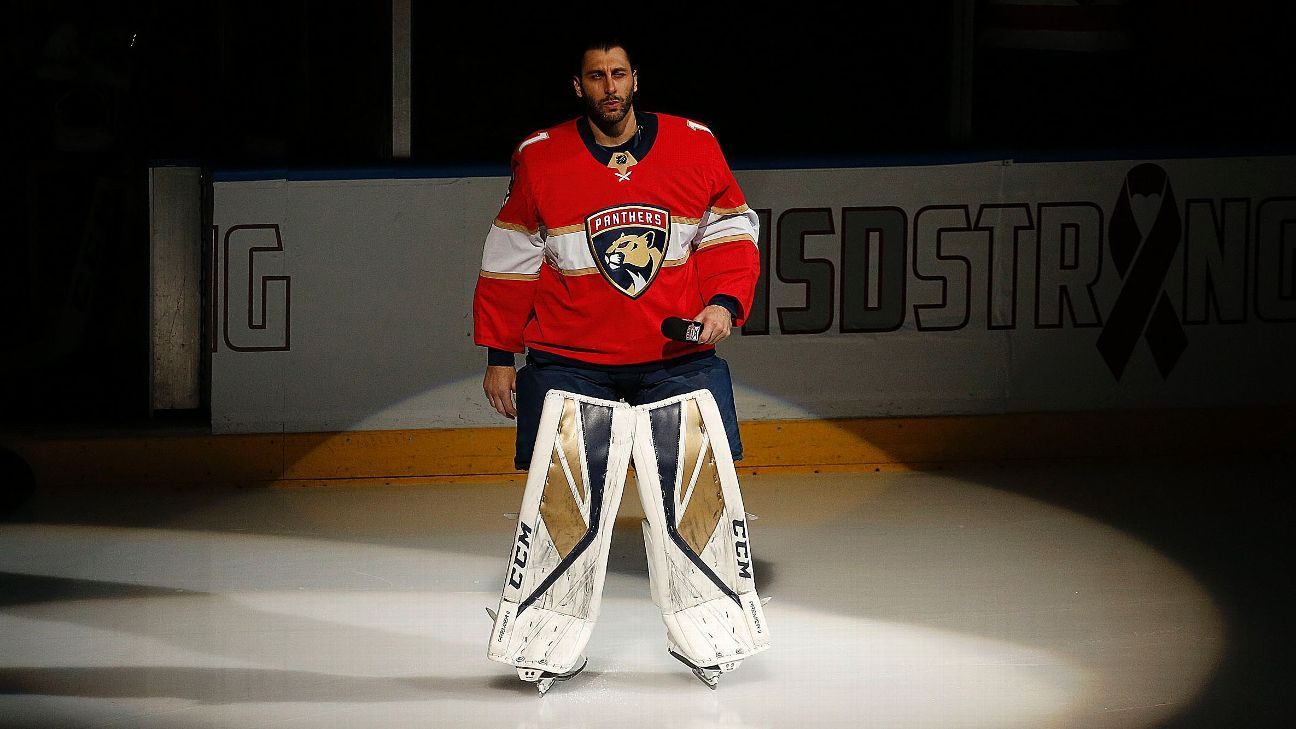 Panthers Goalie Luongo Retires After 19 Seasons